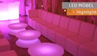 Stimmungsvolle Events mit farbigen Leuchtmöbeln