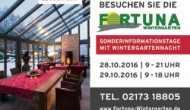 Messe für Wintergärten Planung 2017 – Infotage in NRW mit Wintergartennacht und kostenfreien Expertenvorträgen für Wintergärten,Terrassendächer, u.m..