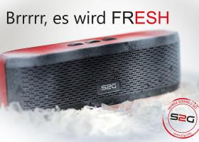 """S2G """"FRESH"""" – Der neue Stereo- Bluetooth-Lautsprecher von SOUND2GO mit dem """"fetten Plus+"""""""