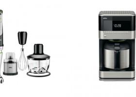 Dürfen in keiner Küche fehlen: Der MultiQuick 9 mit Gewürzmühle und die neue PurAroma 7 von Braun
