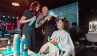 BUNTE new faces award FILM, 26 April 2018 – Berlin   Angelo Fraccica, Moroccanoil ® Creative Design Team Educator, stylt Nominierte und VIPs