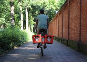 Mit funcoo fahren Getränkekisten ab sofort mit dem Rad!