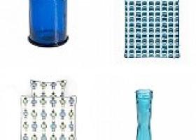 Nachhaltige Design-Produkte in der Trendfarbe Blau